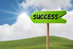 Success arrow sign stock photos