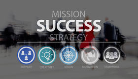 Success Growth Accomplishment Achievement Goal Concept.  Royalty Free Stock Image