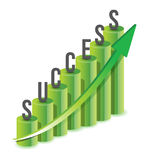 Success growth Chart Stock Photo