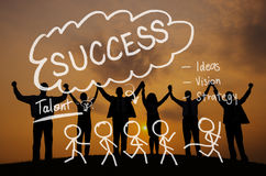 Success Growth Successful Achievement Accomplishment Concept Royalty Free Stock Photos