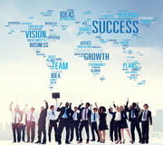 Success Growth Vision Ideas Team Business Plans Connect Concept royalty free stock photo