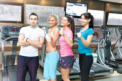 Success  gym team Stock Photography