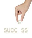 Success and hand, business concept Royalty Free Stock Images