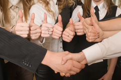 Success and hand shake. Stock Images
