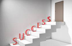 Success and hardwork. 3d graphcis depicting success is a result of hardwork stock illustration