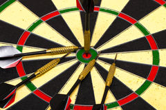 Success hitting target aim goal achievement concept background Royalty Free Stock Images