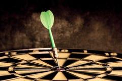 Success hitting target aim goal achievement. Stock Photo