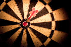 Success hitting target aim goal achievement. Royalty Free Stock Images
