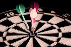Success hitting target aim goal achievement. Royalty Free Stock Photos