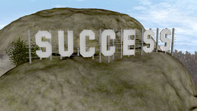 Success Hollywood sign. Word success in the style of the Hollywood sign Royalty Free Stock Images