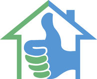 Success home logo Royalty Free Stock Photography