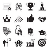 Success icon Set. Vector Illustration Graphic Design stock illustration