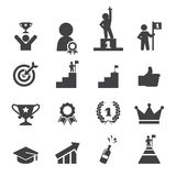 Success icon set Royalty Free Stock Photo