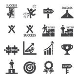 Success icon set Stock Photo