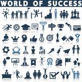 Success icon set Royalty Free Stock Photos