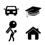 Success icons Stock Image