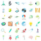 Success icons set, cartoon style. Success icons set. Cartoon style of 36 success vector icons for web isolated on white background Royalty Free Stock Photography