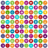 100 success icons set color. 100 success icons set in different colors circle isolated vector illustration royalty free illustration