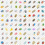 100 success icons set, isometric 3d style. 100 success icons set in isometric 3d style for any design vector illustration Royalty Free Stock Photography