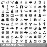 100 success icons set, simple style Stock Images