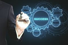 Success and idea concept stock images