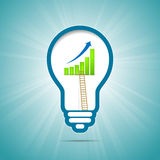 Success Idea Graphic Ladder Light Bulb Royalty Free Stock Photo