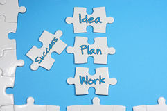 Success, Idea, Plan, Work Text - Business Concept Stock Photo