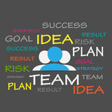Success, Idea, Team Tag Cloud Royalty Free Stock Images