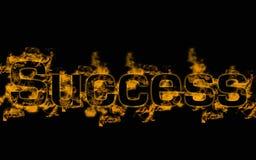 Success illustration. Over black background Stock Image