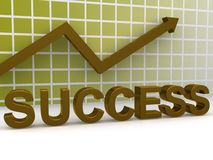 Success illustration Stock Photography