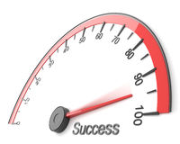 Success. Illustration of speedometer to success word Royalty Free Stock Photography