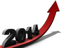 Success 2014. Image to use in an optimistic view on year 2014. Can be also used for review of the year 2014 Stock Image