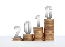Success 2016. Image to use in an optimistic view on year 2016. Can be also used for review of the year 2016 Stock Photo