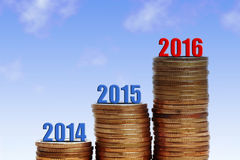 Success 2016. Image to use in an optimistic view on year 2016. Can be also used for review of the year 2016 Stock Image