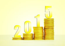 Success 2015. Image to use in an optimistic view on year 2015. Success concept Stock Image