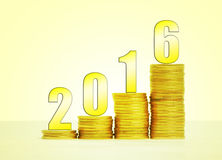 Success 2016. Image to use in an optimistic view on year 2016. Success concept Royalty Free Stock Photography