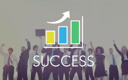 Success Increasing Bar Chart Concept Stock Images