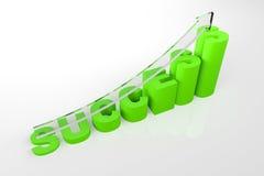 Success Increasing Text Block. 3d render illustration of success text block of increasing height Royalty Free Stock Photos
