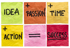 Success ingredients concept Royalty Free Stock Photo