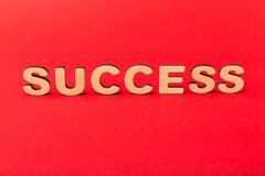 Success inscription on red background royalty free stock images