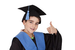 Success. Isolated child clothes graduation, success royalty free stock images