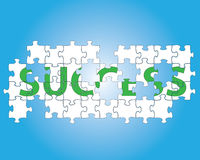 Success jigsaw puzzle Stock Photography