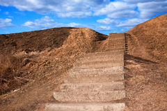 Success and jorney concept - Way to the sky. Journey and success concept -Stairway to the sky Royalty Free Stock Image