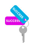 Success Key. Illustration of success key tags Royalty Free Stock Photo