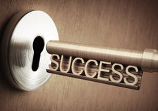 Success Key. The key of success close to open the door Royalty Free Stock Photos