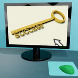 Success Key On Computer Royalty Free Stock Photos