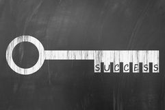 Success key concept on blackboard Royalty Free Stock Photography