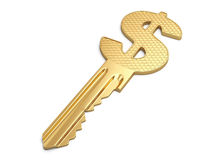 Success key with dollar symbol Stock Photos