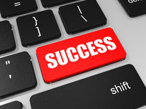 SUCCESS key on keyboard of laptop computer. Royalty Free Stock Photography