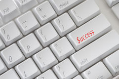 Success Keyboard Royalty Free Stock Photography
